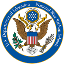 Text Reads: US Department of Education National Blue Ribbon School